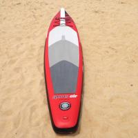 Quality Stand Up Inflatable Standup Paddleboard 3.8meter Length 15cm Width Red Airmat Floor for sale