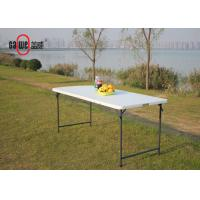 Lawn Bar Height Folding Table Rectangular 180 * 76 * 74cm Size Steel Frame Manufactures