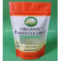 Stand up bags with zipper and tear notch for organic food packing Manufactures