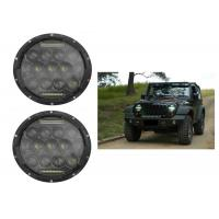 "75W 7"" DRL Fog JK Jeep Wrangler Headlights With High / Low H4 Or H13 Manufactures"