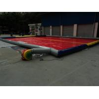Large Red PVC Tarpaulin Inflatable Sport Games For Outdoor Manufactures