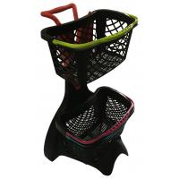 580x480x980 Plastic Shopping Basket Trolley With 3 Inch TAPE Wheel Manufactures