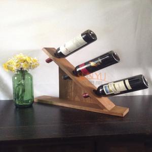MDF Countertop Display Shelves Wooden Wine Bottle Holder DIY Gift Manufactures