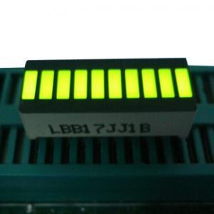 Yellow 10 LED Light Bar , Big 10 Segment Led Display 25.4 x 10.1 x 7.9mm Manufactures