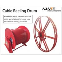 Vertical IP65 380v / 440v Cable Reeling Drum With Red Surface Customized Manufactures