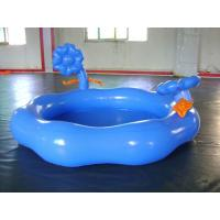 Blue PVC Tarpaulin Inflatable Family Pool Round Swimming Pool For Kids Manufactures