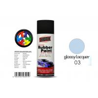 Car Removable Rubber Spray Paint , Air Dried Auto Spray Paint With Glossy Lacquer Color Manufactures