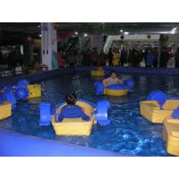 PVC Tarpaulin Inflatable Family Pool For Kids / Inflatable Big Pool Put Kids Boat Manufactures