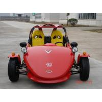 Red Chain Drive Tricycle Motorcycle , Two Seats ATV Automatic With Reverse Manufactures