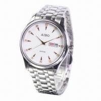 Metal Wristwatch with Charm, Luxury, Fashion and Quartz for Business Manufactures