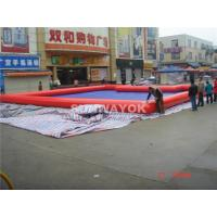 Customed PVC Red Inflatable Water Pool In Summer 0.6 / 0.9 MM Manufactures