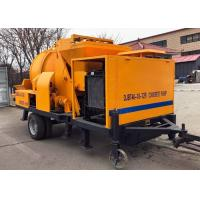Small Hydraulic Diesel Concrete Pump Trailer Mounted Wear Resistant Alloy Made Manufactures