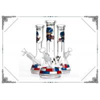 Captain America Glass Smoking Water Pipe 10 Inches  Beaker Bong Hookah Pipes Manufactures