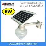 6W Solar Garden LED Light Solar Mushroom Apple Shape Light LED Street Light With Solar Panel Mount On Lamp Pole Post Manufactures