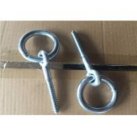Zinc Plated Fasteners Forged Eye Bolts / Eye Bolt With Ring Wood Thread Lag Screw Manufactures