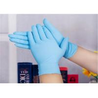 Colored Plastic Medical Grade Disposable Gloves Uniform Thickness Powder Free Nitrile Gloves Manufactures