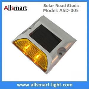 Solar Road Stud ASD-005 Single Line 2leds Square Shape Solar Traffic Warning Lights Manufactures