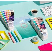 2017 pantone guide set coated and uncoated color card pantone gp1601n pantone colour guide chart solid coated color card Manufactures