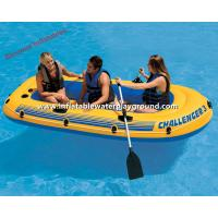 Yellow Inflatable Raft Boat , Adults Inflatable Dinghy Boat With Durable Handles Manufactures