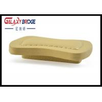 Beige Square Leather Drawer Pulls , Bathroom Cabinet Leather Handles Furniture Hardware   Fitttings Manufactures