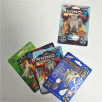 China RHINO 69 Male Enhancement Pill Packaging 3d Lenticular Pack Card Eco - Friendly on sale