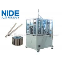 Buy cheap 4KW Rotor Assembly Line , Servo Automatic Armature Commutator Shaft Inserting Machine from wholesalers