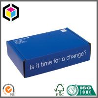 Glossy Blue Color Printed Cardboard Shipping Box; Folding Style Corrugated Box Manufactures
