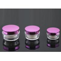 PMMA covered Plastic Cream Jars with a magenta shell  30ml Manufactures