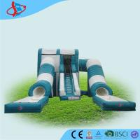 China Tarpaulin double inflatable outdoor water slide / green inflatable pool games on sale