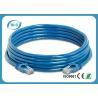 8P8C RJ45 UTP Patch Cord , Blue PVC Cat5e Ethernet Patch Cable 5m Length Manufactures