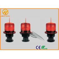 China Solar Powered led strobe warning lights for Marine / Airport / Telecommunication Tower on sale