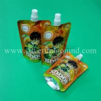 Stand up spout pouch for 200ml orange juice packing Manufactures