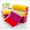 35*75cm  420gsm  color bar face towel  cut pile super soft towel face towel Manufactures