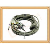 4.0 One Piece ECG Monitor Cable , Ecg Lead Cable 10 Lead Wires TPU Gray With Defibrillation Manufactures