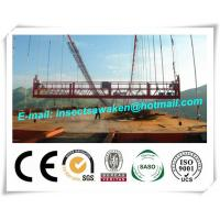 Hanging Scaffold Wind Tower Production Line , Aluminum Steel Suspended Working Platform Manufactures