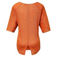 Orange Linen Jersey Mixed Latest Casual Ladies Clothing Short Sleeve Winter Style