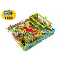 Rectangle Indoor Ropes Course Adventure Playground With Slide Customized Manufactures