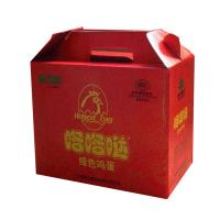 Red 10 * 6 * 12 Inch Corrugated Cardboard Packaging Boxes With Handle For Eggs Manufactures