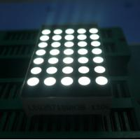 3mm 5x7 Dot Matrix Led Display Ultra Thin Yellow Segment Black Face Manufactures