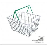 Small Retail Store Metal Shopping Basket Chrome Plating 400x300x215mm Manufactures