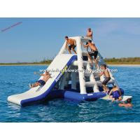 Floating WaterParkGames Inflatable Jungle Joe With Slide In Lake / Sea Manufactures