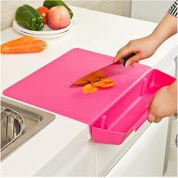 China Detachable Custom Plastic Cutting Boards Household With Vegetable Basket on sale