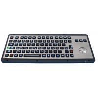 Brushed backlight industrial metal trackball keyboards for industrial & military Manufactures