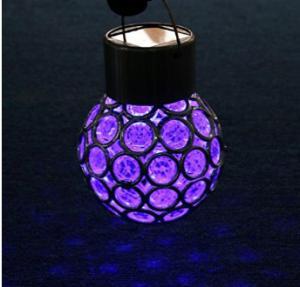 Quality 7 Colors Solar Glass Globe Pendant Light 4500K - 5200K For Garden / Patio for sale