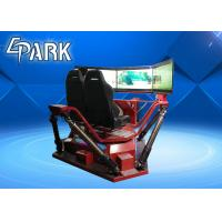 Quality High Speed 3 Screen Virtual Reality Simulator Racing Motion Car 6 Dof 360 Degree for sale
