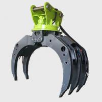 Excavator Log Grab Excavator Attachment  Wooden Grapple  360 Degree Rotation Manufactures