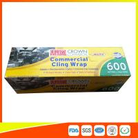 Commercial Wrapping Catering Cling Film 45cm Roll / Cooking Film Wrap For Kitchen Manufactures
