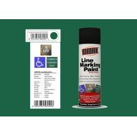 AEROPAK for road with SGS fresh green color 500ml Linie Marking Spray Paint Manufactures