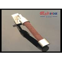 Golden Metal Round Leather Door Handles GL419 96mm Or Customized Size Furniture Leather Pulls Manufactures