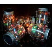 Plastic Landscape Solar Lights Beautiful Design Glass Jar Lights For Garden Manufactures